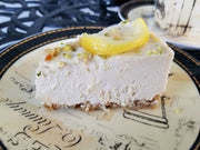 Keto Lemon Key Lime Cheesecake
