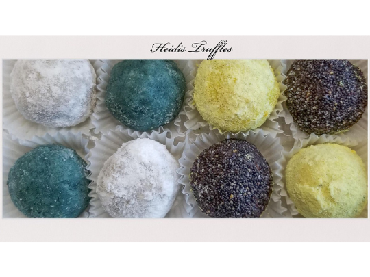 Gourmet Lemon, Rum, Coconut, and Mint Truffles Giftbox