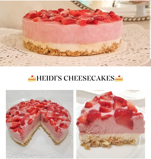 Keto Strawberry Cream Cheesecake