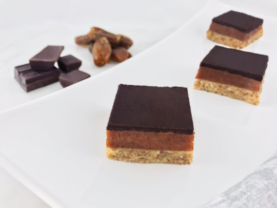 Dark Chocolate Salted Caramel Bars