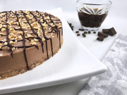 Keto Mocha Coffee Hazelnut Cheesecake