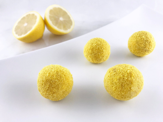 Keto Lemon Energy Dessert Balls Truffles Fat Bombs
