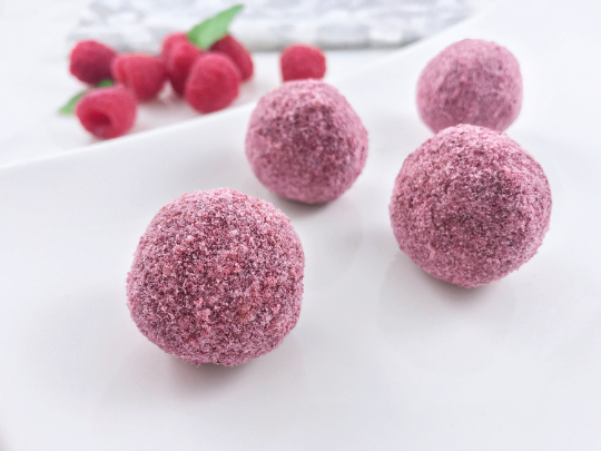 Keto Raspberry Energy Dessert Balls Fat Bombs