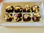 Keto Dark Chocolate Hazelnut Truffles Fat Bombs