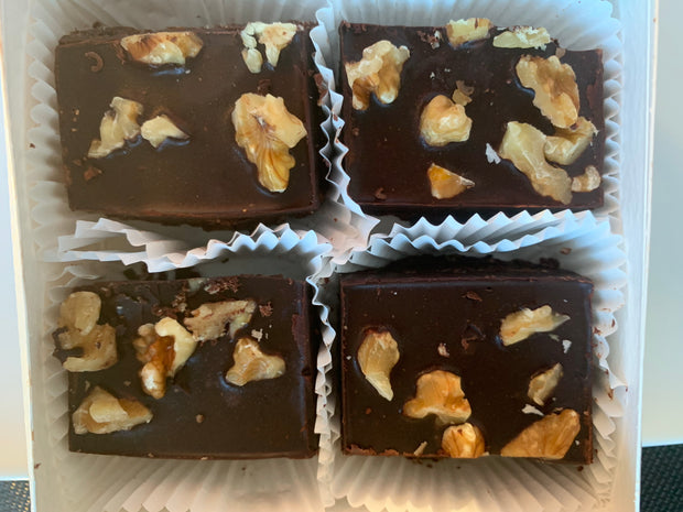 Keto Dark Chocolate Walnut Brownies Fat Bombs
