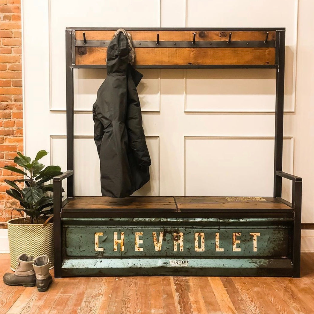 Vintage Chevy Tailgate Hall Tree