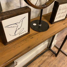 Load image into Gallery viewer, AVAILABLE CUSTOM- reclaimed wood and steel console table