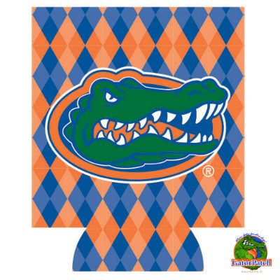 Gators Logo Can Hugger - Argyle
