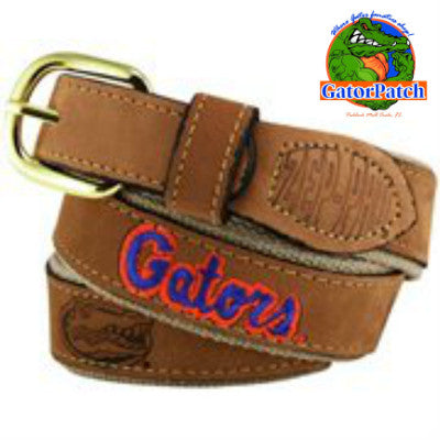 Gators Embroidered Belt