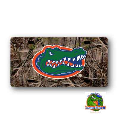 Gators Logo Camo License Plate