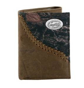 Camo Tri-fold Leather Wallet