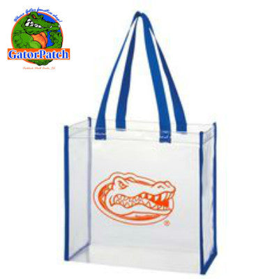 Orange Gators Logo Clear Tote - UF Football Policy Compliant