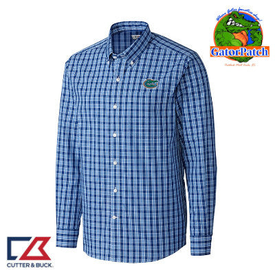 "NEW"" Cutter & Buck Discovery Park Plaid - Blue"