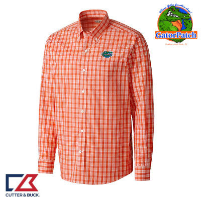 """NEW""  Cutter & Buck Discovery Park Plaid - Orange"