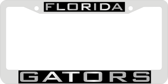 Florida Gators License Frame - Silver/Black