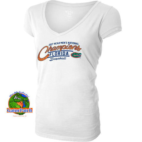 Gators National Champions Five One Ladies V-Neck
