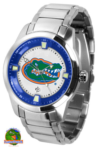 Florida Gators Mens Titan Steel Watch