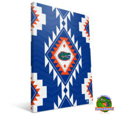 Gators Logo Aztec Canvas Print