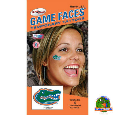 Game Faces Gator Logo Temporary Tattoos