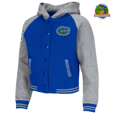 Little Gator Girl Youth Bling Hoodie