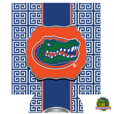 Gators Logo Can Hugger - Greek Key