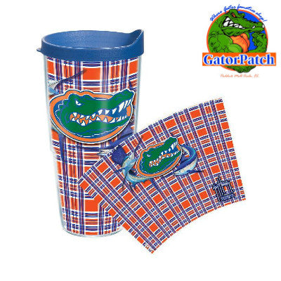 Gators Guy Harvey Plaid 24 oz Tervis