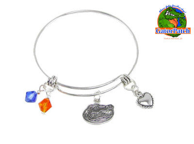 Gators Heart and Charms Bracelet