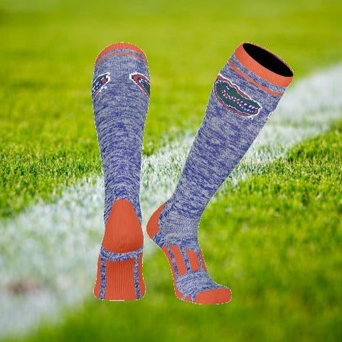Florida Gator Heather Blue Crew Sock