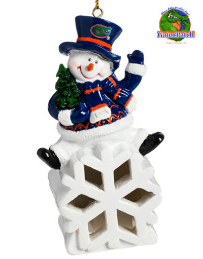 Gators Snowman LED Ornament
