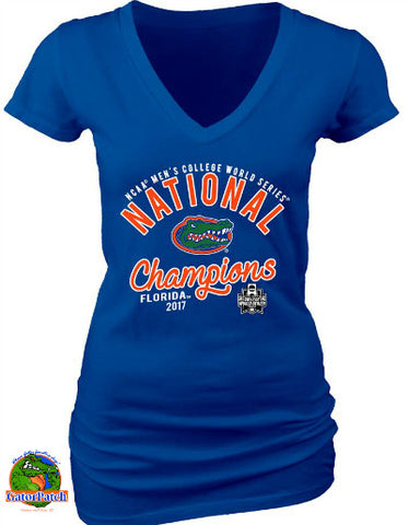 Gators National Champions Ladies V-Neck