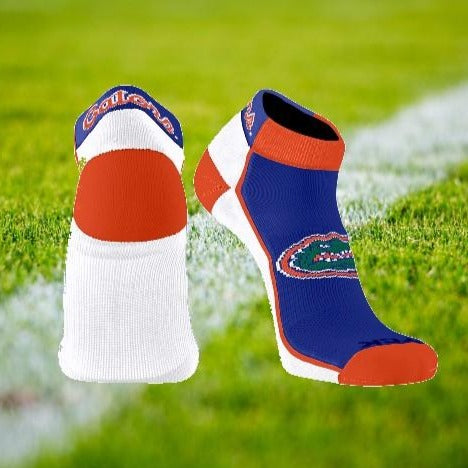 Florida Gator Low Cut Striped Sock