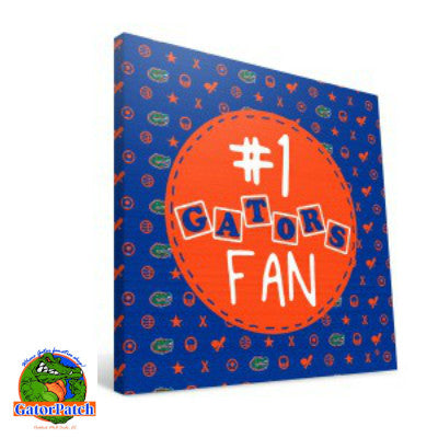 #1 Gators Fan Canvas Print