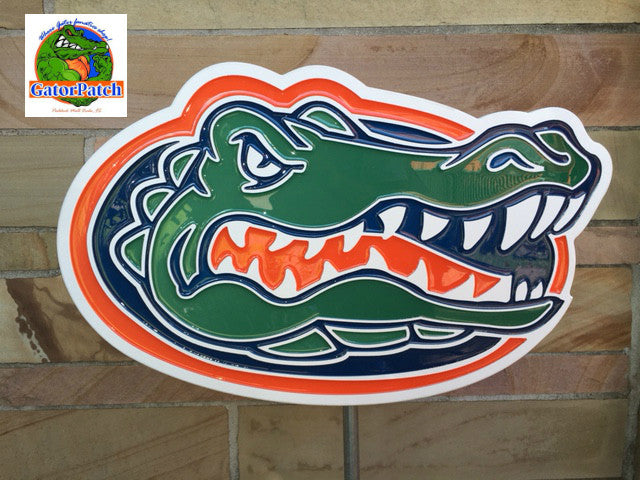 *NEW* PVC Indoor/Outdoor UF Gator Plaque 38""