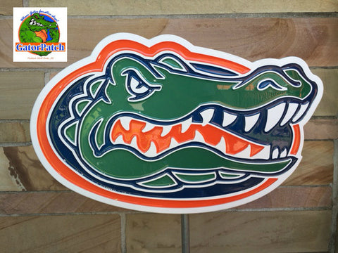 *NEW* PVC indoor/Outdoor UF Gator Plaque 22""