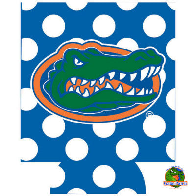 Gators Logo Can Hugger - Polka-Dots