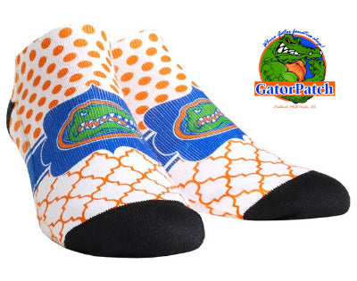 Gators Logo Quarterfoil Dots Low-Cut Socks