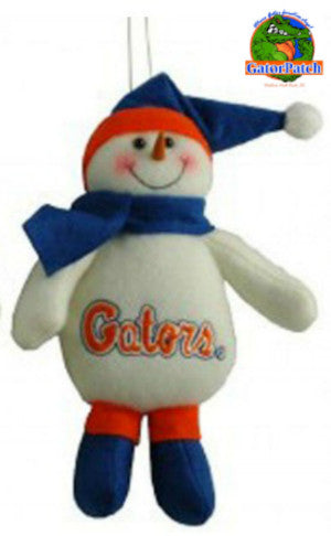 Gators Santa Hat Snowman Ornament