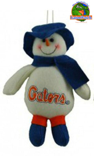 Gators Top Hat Snowman Ornament