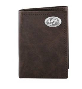 Wrinkle Leather Tri-fold Wallet