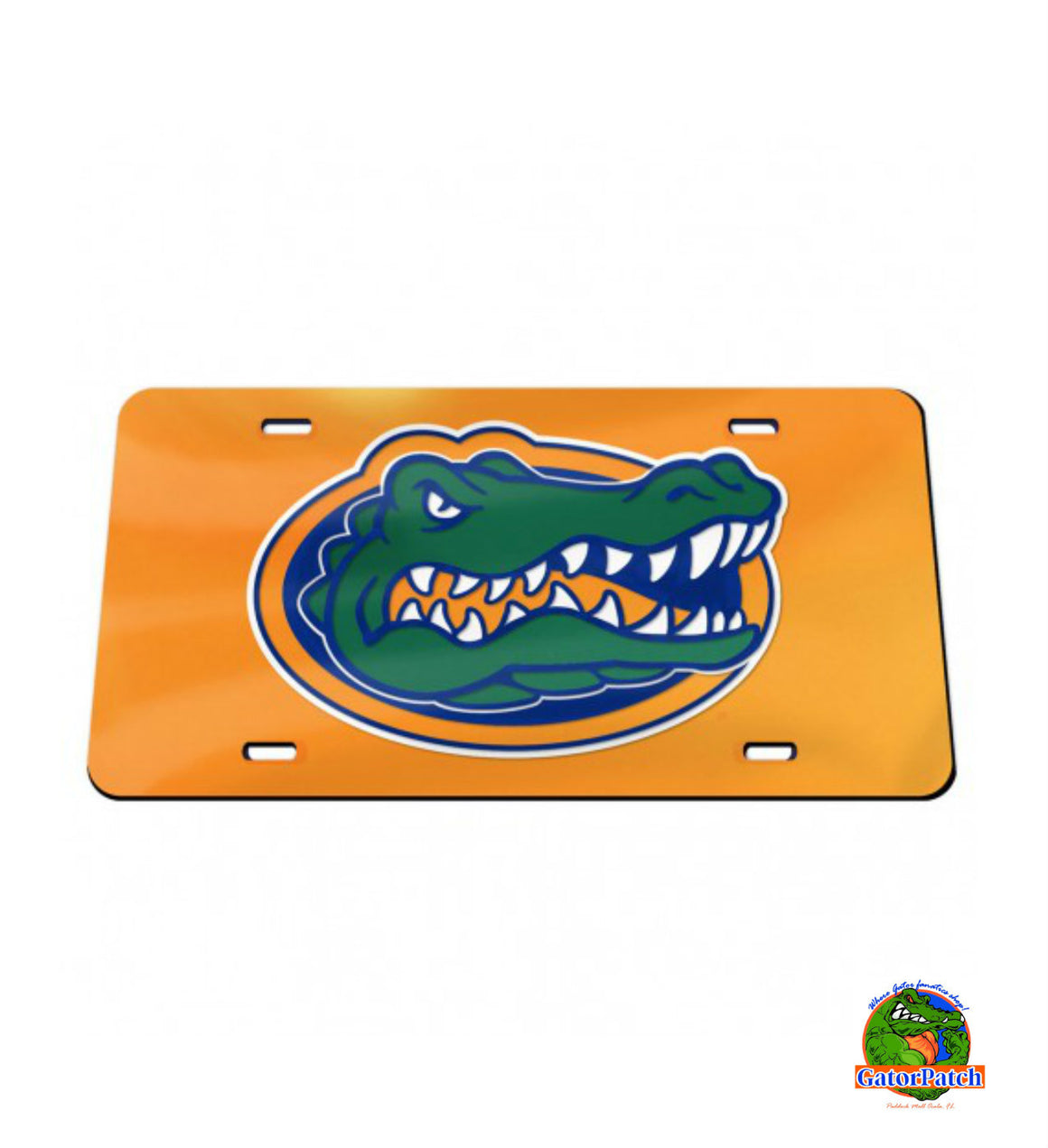 License Plate - Orange Background with Gator Logo