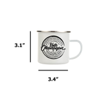 Hello Okanagan Towns Stainless Steel 12oz Campers Mug