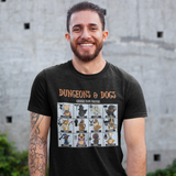 Dungeons and Dragons DnD Fighter Dogs Unisex T-shirt