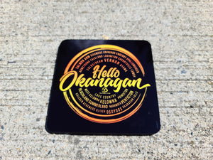"Hello Okanagan 3.75"" Square Table Coasters"
