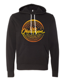 Hello Okanagan Towns Sunset Black Hoodie