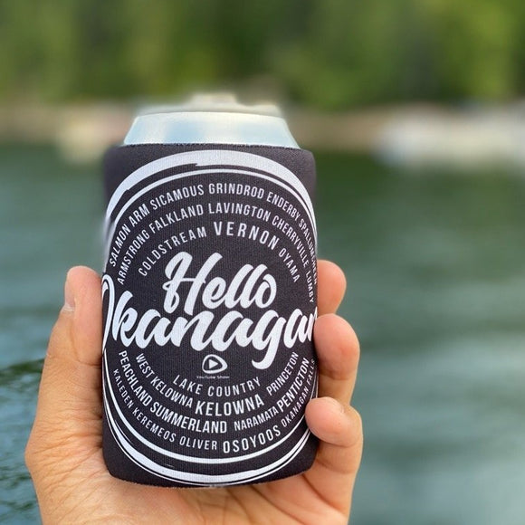 Hello Okanagan Sunset Logo Stubby Can Koozie