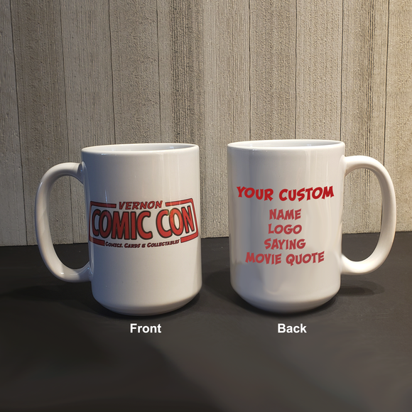 Personalized Vernon Comic Con 15oz Coffee Mug