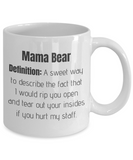 Mama Bear Definition - Funny Cute Protective Staff Den Mother Gift Mug