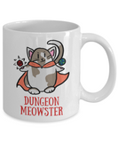 Dungeon Meowster DnD Dungeons and Dragons 11oz or 15oz Coffee Mug