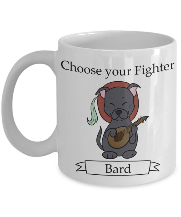 Dungeons and Dogs Bard mug