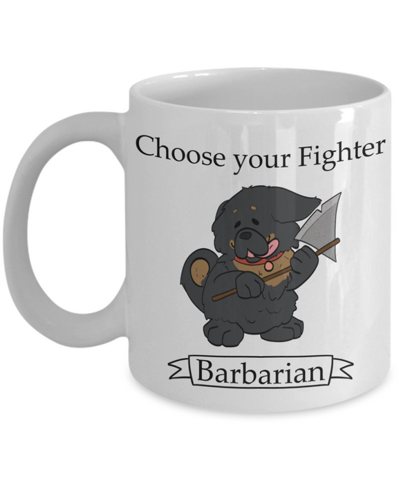 Dungeons and Dogs Barbarian Coffee Mug
